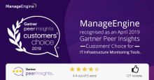 OpManager har utsetts till Gartner Peer Insights Customers' Choice 2019