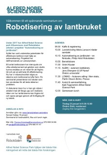 Seminarium om Robotisering av lantbruket