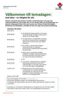 Program: God hälsa - en rättighet för alla