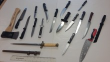 A total of 18 knives handed in as part of Rushmoor's Knife Amnesty