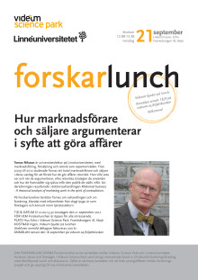Forskarlunch i Videum Science Park 170921