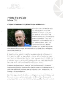 Biographie Bernd Sannwald | Kunstfotograf aus München