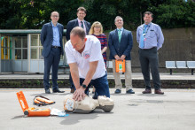 Sussex Heart Charity and Southern join MP Maria Caulfield to promote life-saving heart restarters