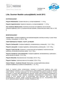 LIITE: Suomen Nestlén kevään 2013 jäätelöuutuudet