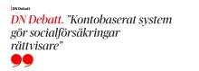 DN Debatt i dag: Timbro föreslår en ny välfärdsreform