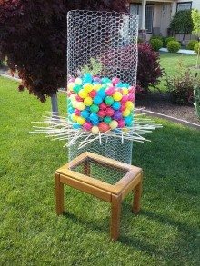 Giant KerPlunk and table tennis for the summer holidays