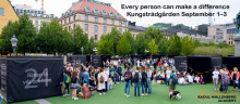 Belgrade's Cube on human rights will be inauguration in Kungsträdgården, September 1