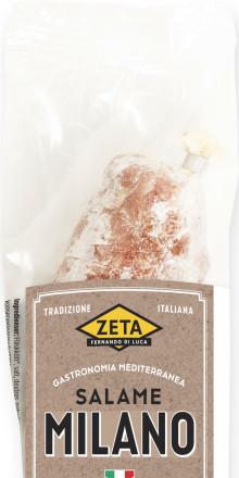 Information om Zeta Salame Milano, hel bit 100 g