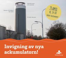Invigning av Mälarenergis nya 82,5 meter höga ackumulatortank i Västerås