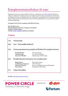Program: Energikommissionsfrukost