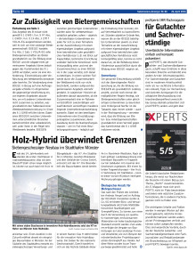 proXPERTS im Submissions Anzeiger vom 26.04.2016