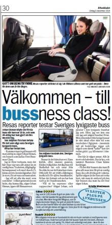 Aftonbladet Resa testar 1st Bussness Class