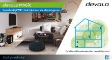 devolo Magic – super hurtigt Wi-Fi i hele hjemmet via el-ledningerne.