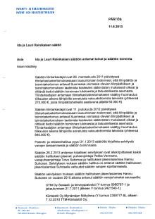 Päätös_Ida ja Lauri Reinikaisen säätiö