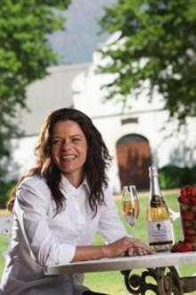 Lizelle Gerber vinmakare på Boschendal Estates kommer till Sverige