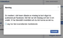 Facebook backar om Bröstcancerbild