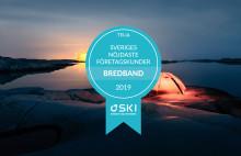 Telias företagskunder för bredband fortsätter vara Sveriges nöjdaste enligt SKI