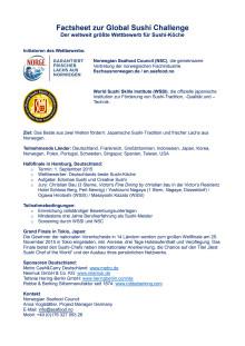 Global Sushi Challenge Deutschland und Japan. Die Details.