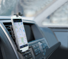 Mobilen på plats i bilen