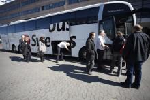 Trafikrapport från Swebus: Extrabussar och inga förseningar på grund av ovädret