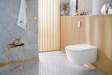 La petite pause du quotidien :  les toilettes de Villeroy & Boch invitent à s'y attarder