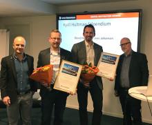 Årets Kjell Hultman-pris gick till David Heed och Jens Johanson