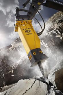 Volvo lanserar medelstora och stora hydraulhammare i HB-serien