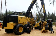 The world's biggest harvester on eight wheels