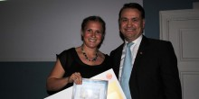 Chalmersstudenten och landslagsorienteraren Lilian Forsgren fick studentidrottens internationella pris