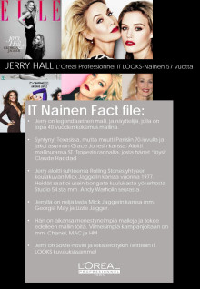 Kuka on Jerry Hall - Fact File