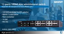 12-ports 10GbE ikke-administreret switch