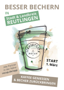 Einführung eines Pfandbecher-Systems: Ab 1. März gibt es in Stadt und Landkreis Reutlingen Coffee-to-go im Mehrwegbecher