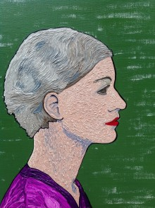 Lee Miller. An expressionist painting of the famous 30s model using the solarisation effect.