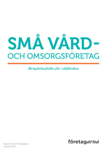 """""""Små vård- och omsorgsföretag – betydelsefulla för välfärden"""""""