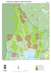 Karta över vargrevir i Värmlands län vintern 2015-2016 (PDF)