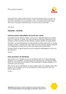 Pressinfo HSN 140926, samtliga ärenden