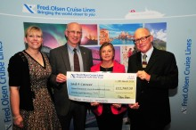 Fred. Olsen Cruise Lines raises nearly £12,000 for Sail 4 Cancer