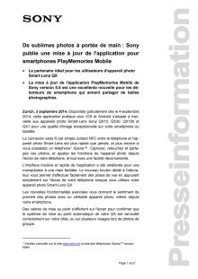 Communication de presse_PlayMemories MobApp5_F-CH_140903