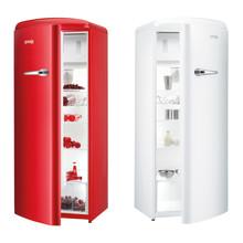 Gorenje Retro -kylmälaitteet kahdessa uudessa värissä: hehkuvan punaisessa ja lumenvalkoisessa