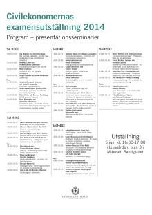Program seminarier