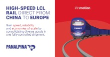 Consolidated shipments now faster from China to Europe with Panalpina's direct rail service