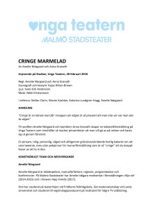 Pressmaterial till Cringe Marmelad