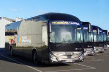 En flotta av Magelys-bussar kommer att transportera samtliga lag under handbolls-VM i Frankrike!