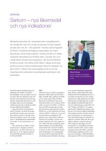 Sarkom – docent Mikael Eriksson rapporterar från ASCO 2010
