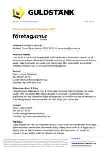 Nominerade till Guldstänk 2018