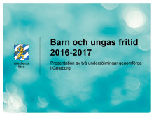 Presentation av fritidsvaneundersökning - pressträff 28 april 2017