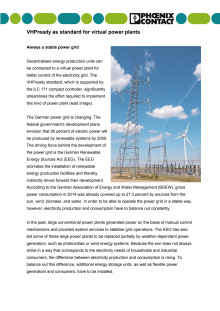 VHPready as standard for virtual power plants