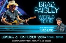 Den Grammy-vindende amerikanske countrystjerne Brad Paisley til Royal Arena