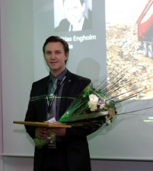 Tolpagorni announce Scania Product manager Niklas Engholm as the winner of the Golden Sock award