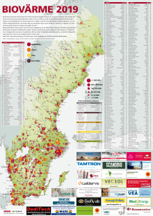 Bioenergis karta: Biovärme 2019